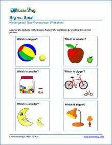 free preschool amp kindergarten comparison worksheets