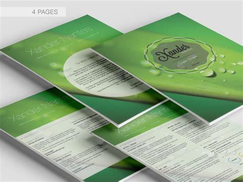 Cursive Q Resume by Your Journey 4 Page Resume Cv Photoshop Template Cursive Q