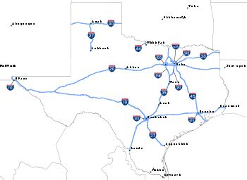 map of texas interstates liste des interstate highways du texas wikip 233 dia