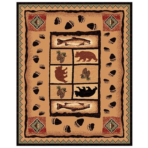 Fish Area Rug Fish Tree And Area Rug 226532 Rugs At Sportsman S Guide