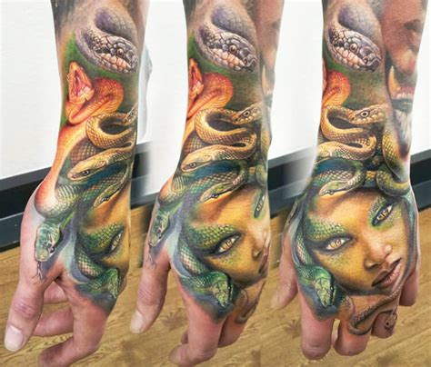 medusa snake head tattoo by led coult no 1175