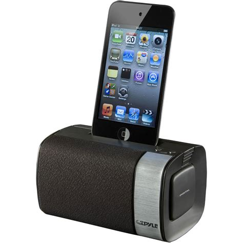 Isoundspa Speaker System For Ipods Is Also A Soothing Sound Station by Pylehome Pipdsp20 Sound And Recording Alarm Clock