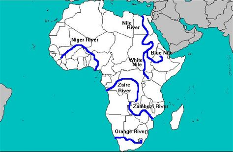 africa map nile river the conflict between and the nile