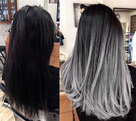 black hair with grey streaks on black 17 best ideas about balayage technique on pinterest guy