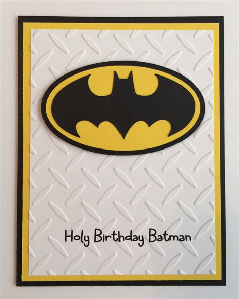 Batman Printable Birthday Card Handmade Batman Birthday Card