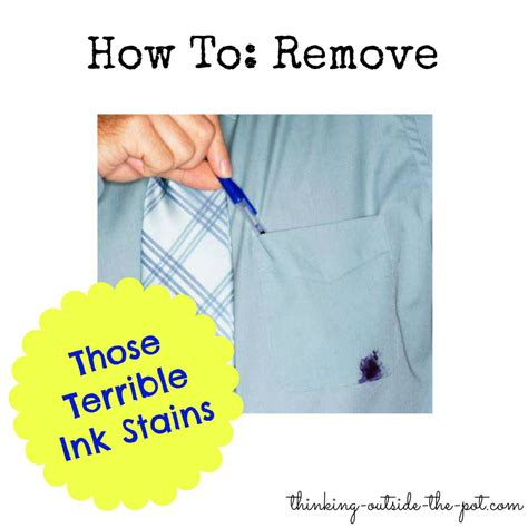 How To Remove Pen Stains From by How To Remove Ink Stains Thinking Outside The Pot