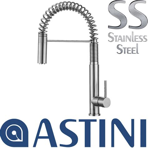 Astini Zetland Brushed Steel Pullout Astini Albano Brushed Stainless Steel Pullout Rinser Kitchen Sink Mixer Tap Hk69 Ebay