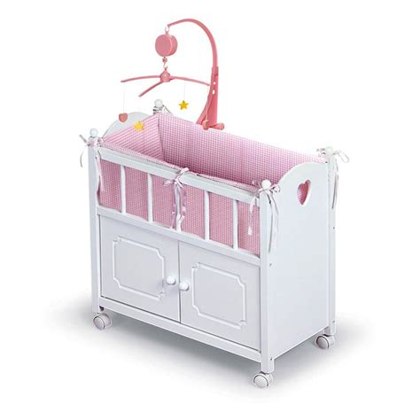 Baby Doll Cribs And Beds by Badger Basket Pink Gingham Doll Crib And Bed Baby Doll