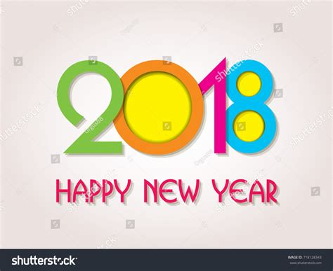 happy new year element vector design happy new year 2018 creative greeting stock vector