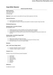 sle marketing resumes bsr resume sle library and