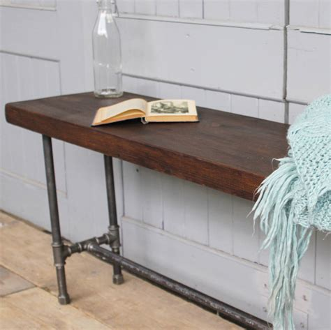 pipe bench industrial wood and steel pipe bench by m 246 a design