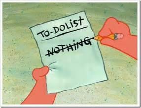 Spongebob Double Duvet Funny Collection English Cartoon To Do List