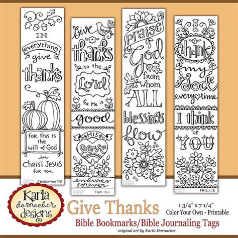 printable bookmarks christian give thanks color your own thanksgiving bible journaling