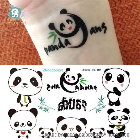 panda express tattoo online get cheap panda tattoo aliexpress com alibaba group