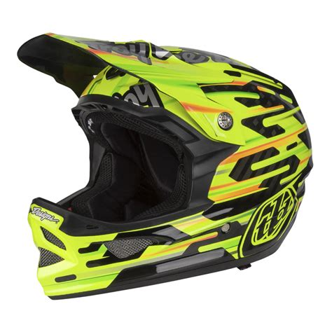 troy lee design downhill helm troy lee designs downhill mtb helmet d3 carbon code yellow