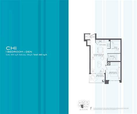 bedroom chi flo condos 1 bedroom den chi floor plan