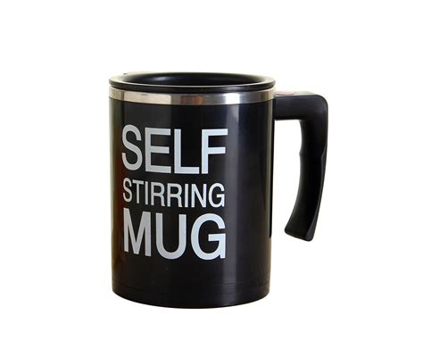 Mug Unik Self Stirring Blender Diskon coffee milk self stirring mug black buy blender cup with a handle 304stainless steel cup