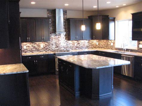 Espresso Kitchen Cabinets With Granite netuno bordeaux granite on cherry espresso cabinets