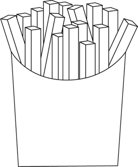 black and white french fries clip art black and white