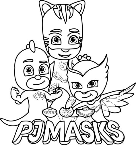 color sheets pj masks coloring pages printable gallery free