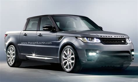 land rover pickup truck range rover sport pickup truck rendered autoevolution