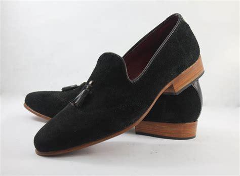 Mens Handmade Moccasins - handmade mens black suede leather moccasins formal