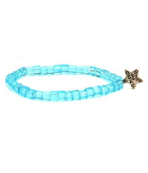 viva bracelets viva di moda blue glass casual hit coloured bead bracelet