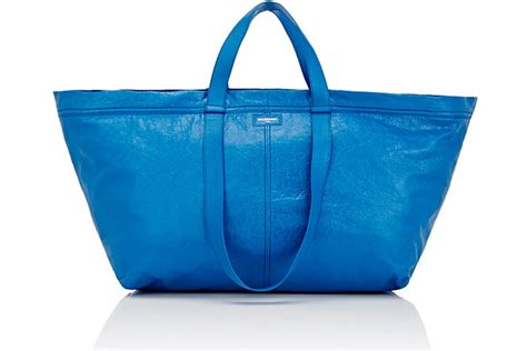 new ikea bag ikea calls out balenciaga s 2 145 take on its frakta bag