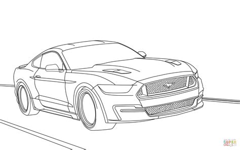 Ford Gt Coloring Pages ford mustang 2015 coloring page free printable coloring