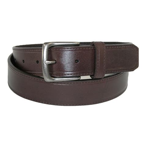 mens leather 1 1 4 inch casual security money belt by