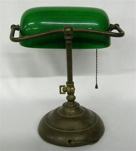 classic vintage green glass bankers l lot 1099