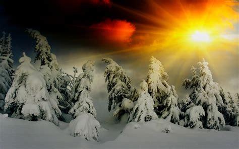 good morning sunshine  snow fall hd wallpapers rocks