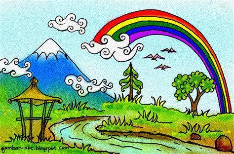 Ada Pelangi Di Langit Turki gambar mewarnai pemandangan pelangi contoh gambar mewarnai