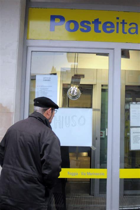 ufficio postale lecce falso allarme bomba evacuato ufficio postale a statte