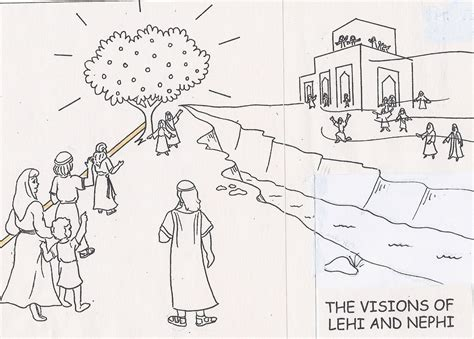 lds coloring pages lehi in the doghouse lehi s dream 1 nephi 8