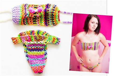 dress made from 24k loom bands sells on ebay for 170k loom bands lynwen stonelake makes a loom band bikini