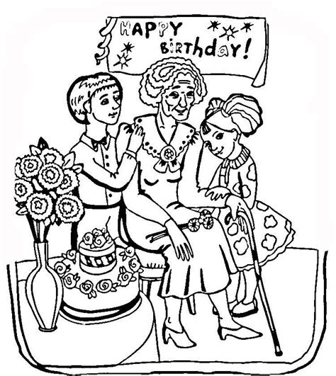 birthday coloring pages for nana happy birthday grandma coloring page coloring home