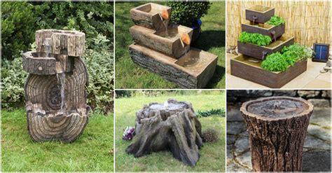 wonderful wooden garden fountains   amaze