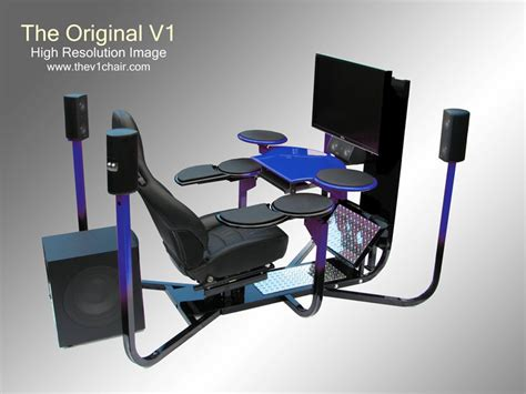 3 monitor chair ultimate computer setups cool computer room design