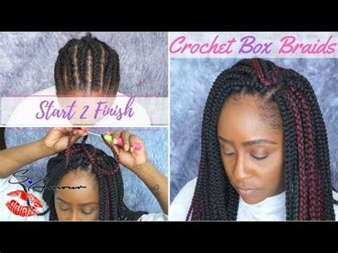 how to put at the end of braids how to crochet box braids tutorial no hair out start