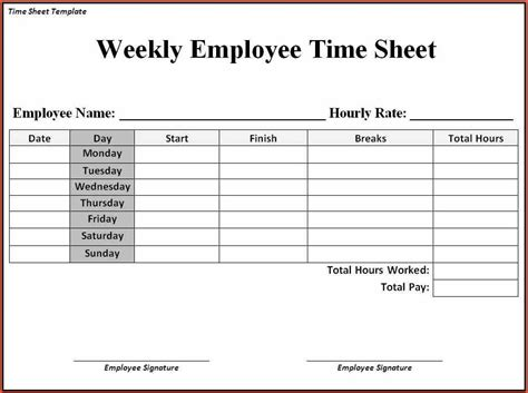 free time card template sle time sheet proposalsheet