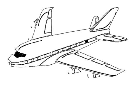 airplane clipart coloring page aeroplane drawing for kids cliparts co