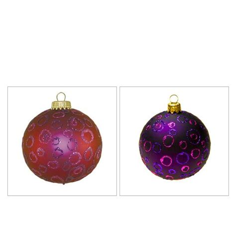 a krebs glass pink patterned christmas tree bauble