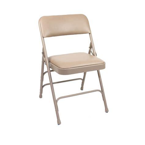 beige vinyl padded folding chair bar restaurant