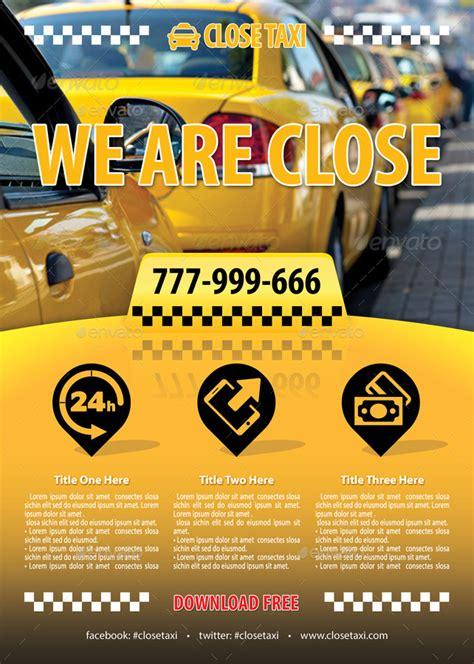 taxi cab service flyer template   min graphicriver