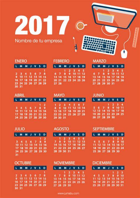 Calendario Para Descargar 2017 Calendarios 2017 Para Imprimir Gratis Jumabu