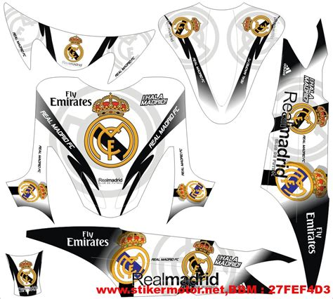 Sticker Striping Variasi Animasi Mio Fino Fi 1 striping motor mio real madrid stikermotor net
