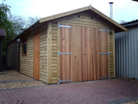 two door garage cedar double doors warwick timber garages