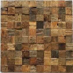 kitchen wall panels backsplash wood mosaic tile rustic wood wall tiles nwmt002
