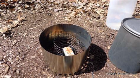 qiwiz titanium ultralight dual fuel stove system and esbit hikers